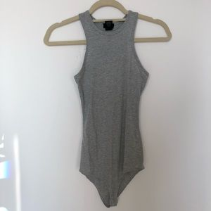 Wet Seal Grey Bodysuit